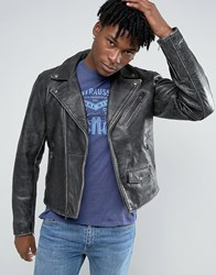 Levi's Levis Moto Vintage Leather Jacket Black Tumbled