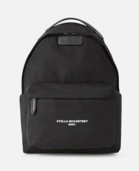 Stella Mccartney Black Logo Go Backpack