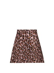 Miu Miu Leopard Brocade Mini Skirt Pink Multi