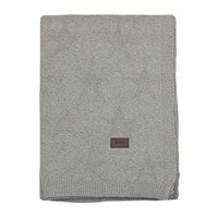 Gant Top Star Knitted Throw Grey