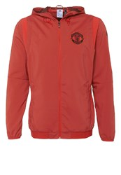 Adidas Performance Manchester United Tracksuit Top Bright Red Utility Black