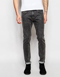 Lee Jeans Luke Skinny Fit Stretch Dark Sound Black Acid Wash Black