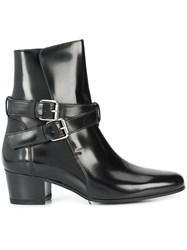 Amiri Buckle Ankle Boots Black