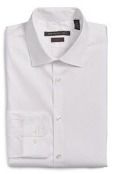 John Varvatos Men's Big And Tall Star Usa Slim Fit Solid Stretch Cotton Dress Shirt White