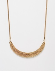 Coast Crescent Choker Necklace Gold