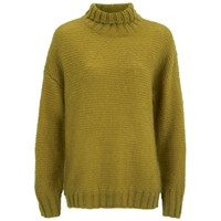 Baum Und Pferdgarten Women's Cosima Roll Neck Knitted Jumper Dried Tobacco Yellow