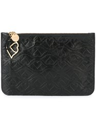 See By Chloe Big Bisou Embossed Clutch Black