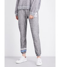 Wildfox Couture Yacht Problems Skinny Fleece Jogging Bottoms Heather