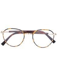 Cutler And Gross Aviator Shaped Glasses Unisex Acetate Metal Other Brown