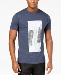 Inc International Concepts Men's Reflection Graphic T Shirt Created For Macy's Navy Heath
