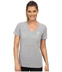 Adidas Ultimate S S V Neck Tee Medium Grey Heather Matte Silver Women's T Shirt Gray