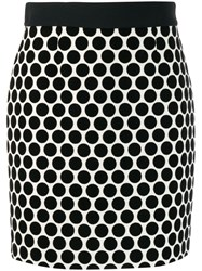 Fausto Puglisi Dotted Fitted Skirt Black