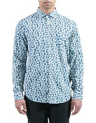 Color Siete Daisy Pattened Sportshirt Blue