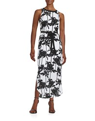 Kensie Palm Tree Maxi Dress White