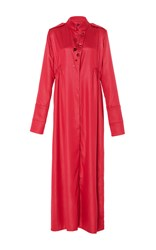 Ellery Prophet Stand Collar Dress Red