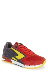 Men's Brooks 'Fusion' Sneaker High Risk Red Anthracite