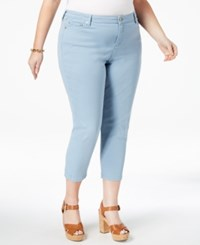 Michael Kors Plus Size Skinny Cropped Jeans Chambray
