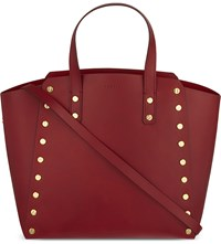 Sandro Abby Cabas Leather Tote Rouge