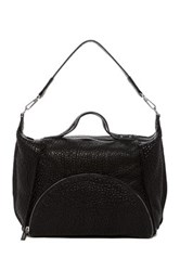 L.A.M.B. Johanna Leather Shoulder Bag Black