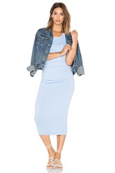 Michael Stars Shirred Midi Dress Blue