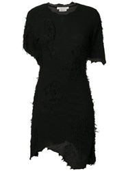 Alyx Asymmetric Fitted Dress Black