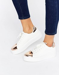 Asos Definitely Lace Up Trainers White