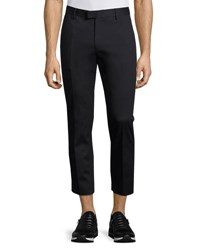 Moncler Slim Fit Cropped Trousers Navy
