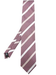 Pal Zileri Striped Tie Pink Purple