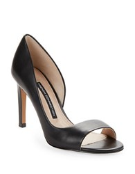 French Connection Lieve D Orsay Leather Heels Black