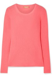 Michael Kors Collection Ribbed Cashmere Sweater Coral