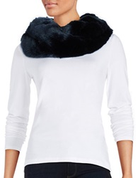 Donna Salyers Faux Fur Infinity Scarf Navy Blue
