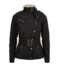 Barbour International Quilted Shearling Jacket Female