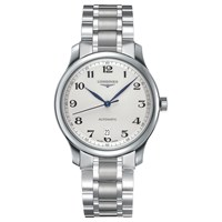 Longines L26284786 Men's Master Collection Automatic Date Bracelet Strap Watch Silver White