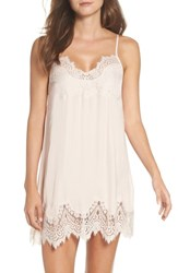Chelsea 28 Chelsea28 Love Struck Lace Trim Chemise Pink Peony Bud