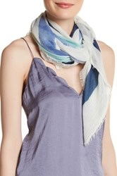 Vince Camuto Maze Square Scarf Blue