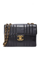 Wgaca Chanel Vertical Quilted Jumbo Bag Previously Owned