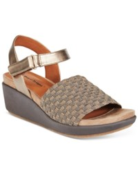 Bare Traps Erker Stretch Wedge Sandals Women's Shoes Bronze
