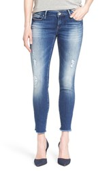 Women's Mavi Jeans 'Serena' Distressed Stretch Ankle Jeans Ripped Vintage