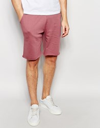 Asos Mid Length Jersey Shorts In Light Pink Wistful Mauve