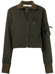Damir Doma Fitted Bomber Jacket Green