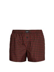 Vetements Checked Swim Shorts Red