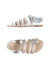 Ioannis Thong Sandals Gold