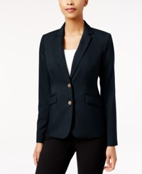 Charter Club Petite Two Button Blazer Only At Macy's Deepest Navy