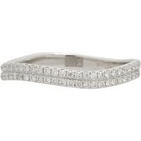 Monique Pean Atelier White Pave Diamond And Platinum Double Wave Ring