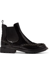 Church's Aura Met Studded Glossed Leather Chelsea Boots Black