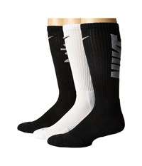 Nike Dri Fit Fly V4 Crew 3 Pack Multicolor 5 Crew Cut Socks Shoes