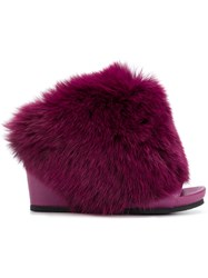 Peter Non Wedge Mules Pink And Purple