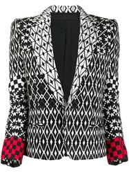 Haider Ackermann Pattern Mix Blazer Black