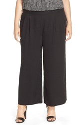 Eileen Fisher Plus Size Women's Wide Leg Tencel Pants Black