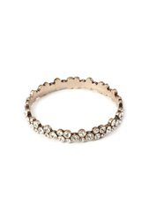 Forever 21 Rhinestone Encrusted Bangle Antic Gold Clear